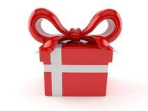 Cadeau avec le drapeau danois illustration libre de droits