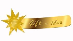 Cadeau - bannière d'idée avec l'étoile illustration libre de droits