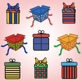 Cadeau Boxes illustration de vecteur