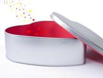 Cadeau-cadre de Valentine avec la petite évasion de coeurs Images stock