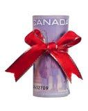 Cadeau canadien d'argent Photo libre de droits