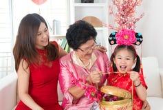Cadeau chinois de nouvelle année image libre de droits