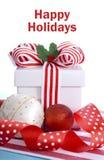Cadeau coloré lumineux de Noël Image stock