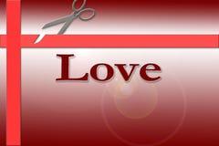 Cadeau d'amour Photographie stock