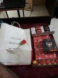Cadeau d'amour Photo stock