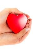 Cadeau d'amour de coeur de thr Photo libre de droits