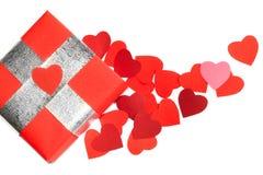 Cadeau d'amour de jour de Valentines Photographie stock