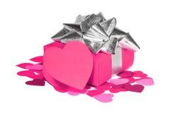 Cadeau d'amour de jour de valentines Images libres de droits