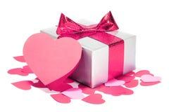 Cadeau d'amour de jour de valentines Photographie stock libre de droits