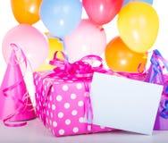 Cadeau d'anniversaire Photos libres de droits