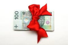 Cadeau d'argent Photo stock