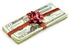 Cadeau d'argent Image libre de droits