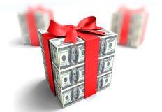 Cadeau d'argent Photographie stock libre de droits
