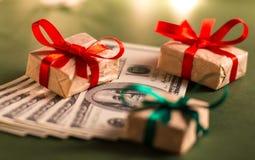 Cadeau d'argent Images stock