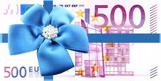 Cadeau d'argent Image stock