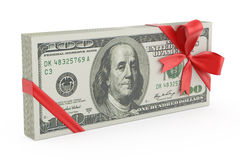 Cadeau d'argent images libres de droits