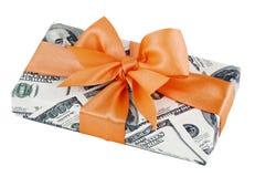 Cadeau d'argent comptant Images stock