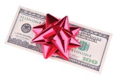 cadeau d'argent comptant Photo stock