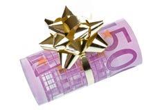 Cadeau d'argent de l'euro 500 Image libre de droits