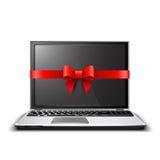 Cadeau d'ordinateur portable Photo stock