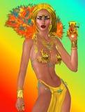 Cadeau d'une reine de pharaon Images libres de droits