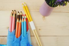 Cadeau de baguettes de crayon Photo libre de droits