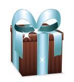 cadeau de brun bleu Photos stock