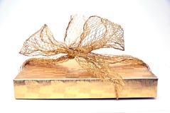 cadeau de cadre d'or Photo libre de droits