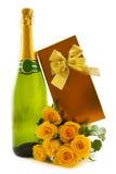Cadeau de Champagne Photographie stock