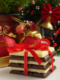 Cadeau de chocolat Photos stock