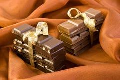 Cadeau de chocolat sucré Images stock