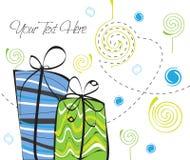 Cadeau de ciel vert et bleu Illustration Libre de Droits
