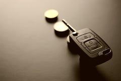 Cadeau de clé de voiture d'argent Photos libres de droits
