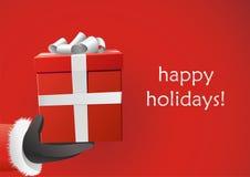 cadeau de Claus donnant Santa Photos stock