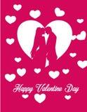 Cadeau de couples d'amour de Saint Valentin Image stock