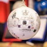Cadeau de décoration d'arbre de Noël de babiole de Londres illustration stock