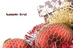 cadeau de décoration de Noël de cadre Photographie stock libre de droits