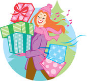 Cadeau de donner Photos stock