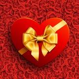 Cadeau de forme de coeur Image libre de droits
