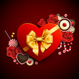 Cadeau de forme de coeur Photos libres de droits
