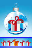 Cadeau de jouet de Noël Photographie stock libre de droits