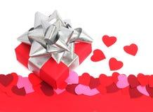 Cadeau de jour de Valentines images libres de droits