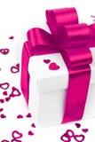 Cadeau de jour de valentines sur le blanc Image libre de droits