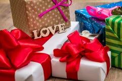 Cadeau de Joyeux Noël ou de bonne année Photo stock
