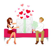 Cadeau de l'amour Illustration de Vecteur