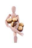 cadeau de la distribution de chocolat photo stock
