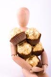 cadeau de la distribution de chocolat photos libres de droits