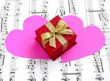 Cadeau de la musique Photos libres de droits