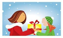 Cadeau de Noël. Photographie stock libre de droits
