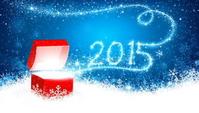 Cadeau 2015 de Noël illustration libre de droits